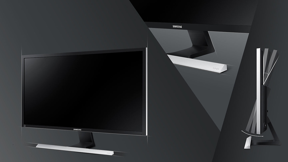 Design elegante in nero opaco e base a T con finitura metallica