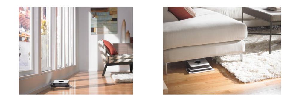 Duvarlar boyunca ve mobilyaların altında temizlik imkanı