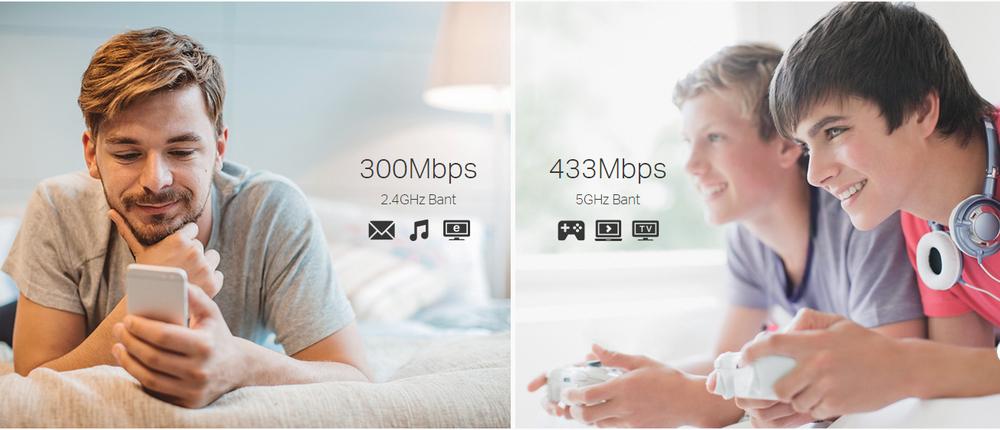 Daha İyi Bağlantılar İçin Yüksek Hızlı Dual Bantlı Kablosuz Erişim