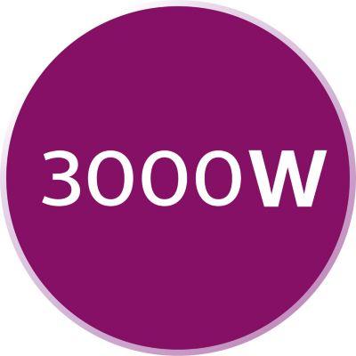 3000 W ile hızlı ısınma ve güçlü performans
