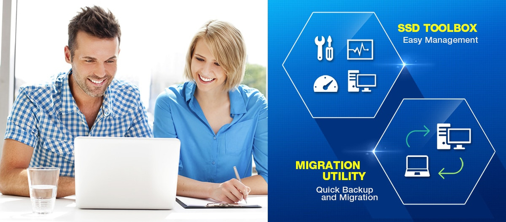 Özel yazılım; SSD Toolbox and Migration Utility