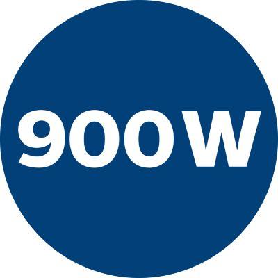 Güçlü emiş gücü sunan 900 W motor