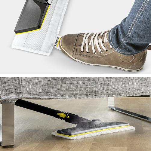 Esnek zemin aparatlı ve temizleme bezi için uygun hızlı sabitleme özellikli zemin temizleme seti EasyFix