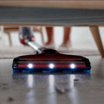 LED başlık görünmeyen toz ve kiri ortaya çıkarır