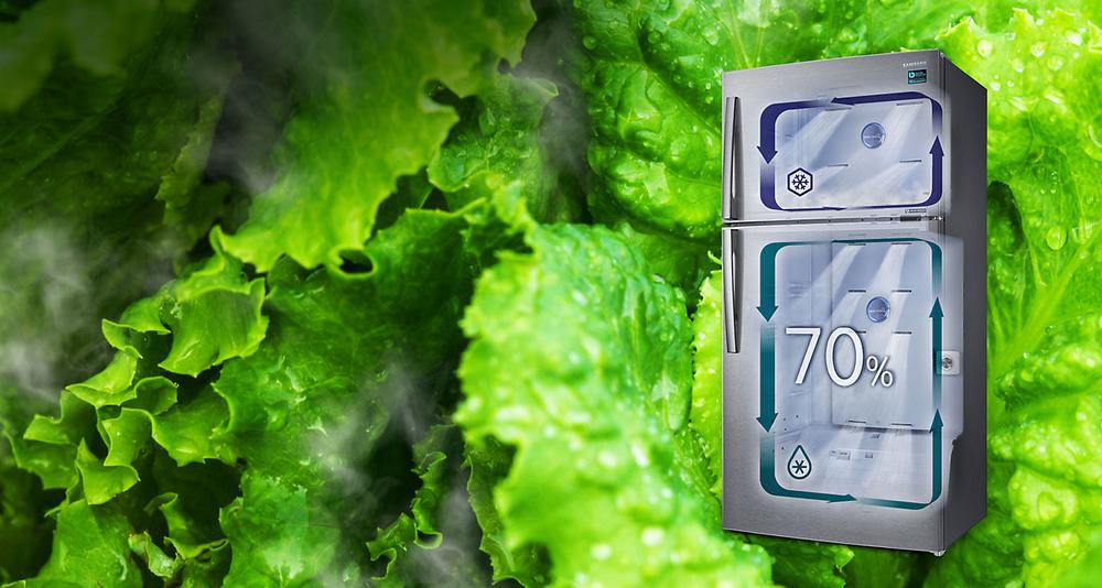 Buzdolabının her yerinde nem dolu tazelik