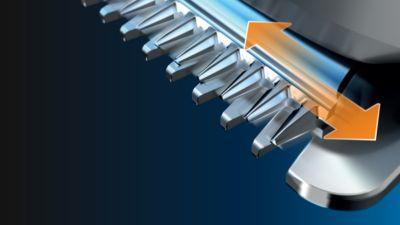 Kendiliğinden bilenen metal bıçaklar, yağlamaya gerek olmadan hassas bir şekilde çalışır