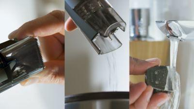 Bölmeyi boşaltıp bıçakları suyla durulayın
