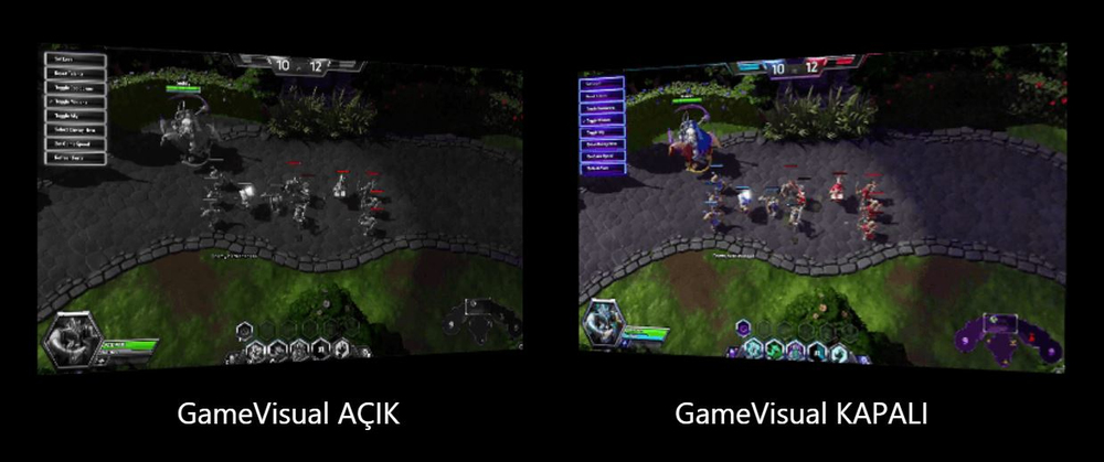 ASUS'a özgü GameVisual teknolojisi