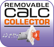 Exclusive removable calc collector for long-lasting steam performance