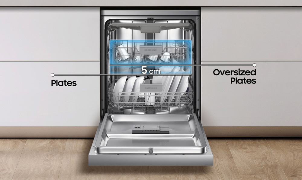 Farklı boyutlardaki bulaşıkları yerleştirme rahatlığı