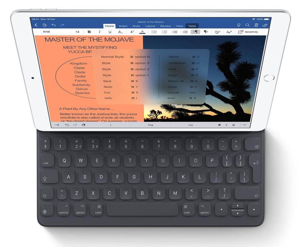 Smart Keyboard. Tam boy klavye. Tam ekran koruma.