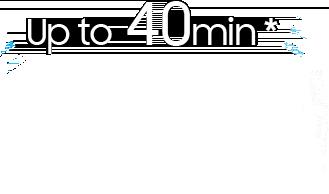 Fino a 40 minuti di autonomia