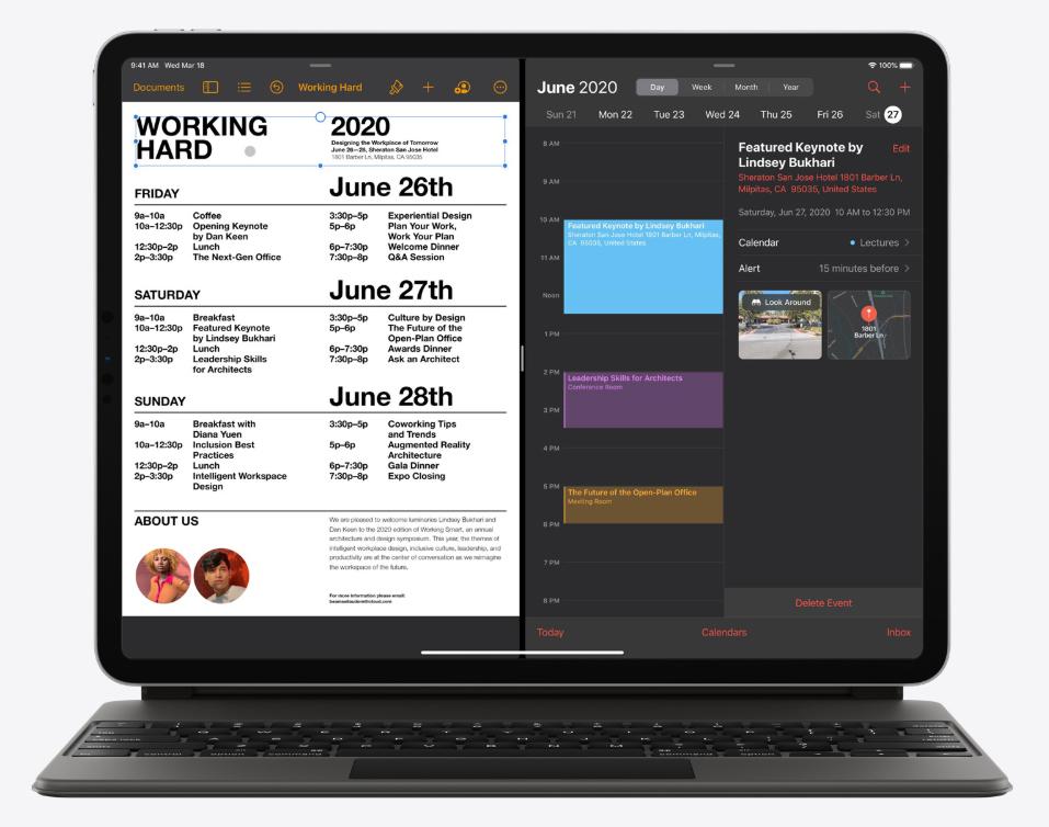 Trackpad progettato per iPadOS