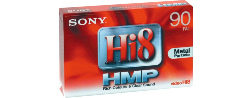 Sony Camcordertape HI8 90min (2) videocassetta vergini