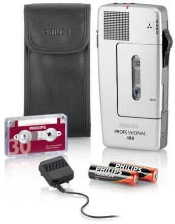Philips Pocket Memo 488 Cassetta Argento dittafono