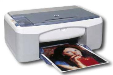 HP PSC 1200 600 x 600DPI Ad inchiostro A4 7.8ppm Grigio, Bianco multifunzione