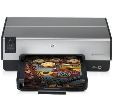 HP Deskjet 6540 Colore 4800 x 1200DPI A4 Nero, Grigio stampante a getto d