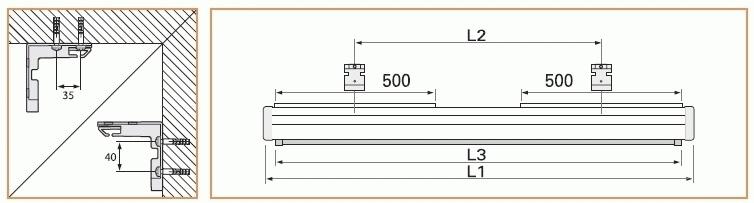 """Projecta Cinema Electrol 117x200 Matte White S 92"""" 16:9 schermo per proiettore"""