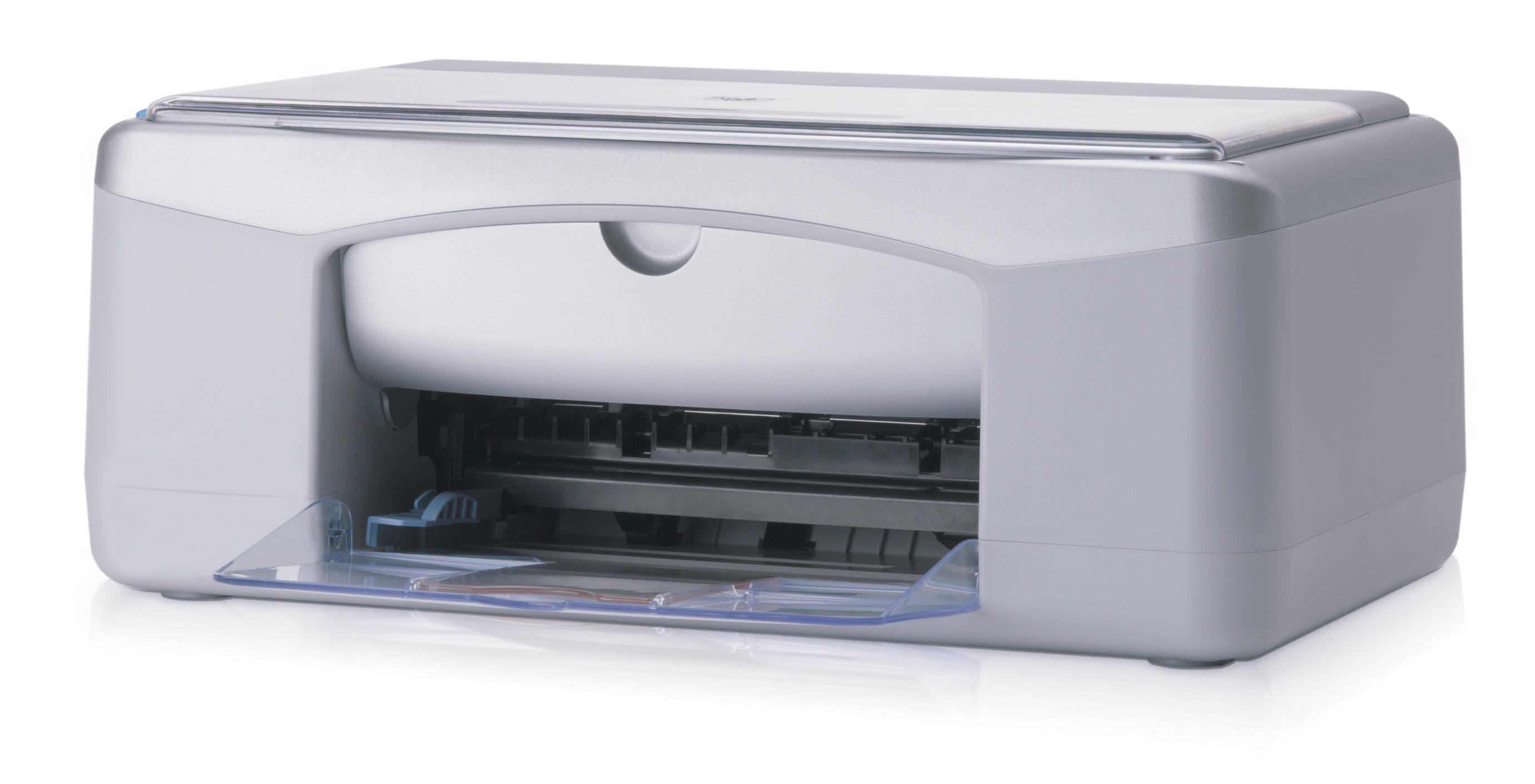 HP PSC 1215 600 x 600DPI Ad inchiostro A4 7.8ppm Argento, Bianco multifunzione