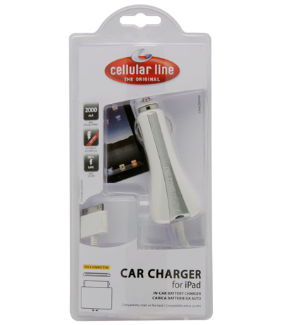 Cellularline CAR CHARGER for iPad Auto Bianco caricabatterie per cellulari e PDA