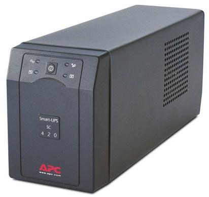 APC Smart-UPS A linea interattiva 420VA 4AC outlet(s) Torre Grigio gruppo di continuità (UPS)