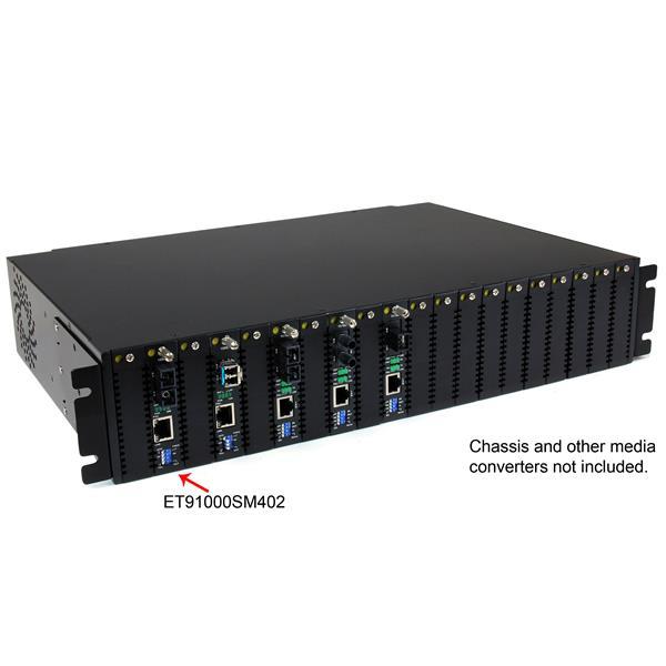 StarTech.com Convertitore media Ethernet Gigabit in fibra monomodale SC 40 km -1000 Mbps