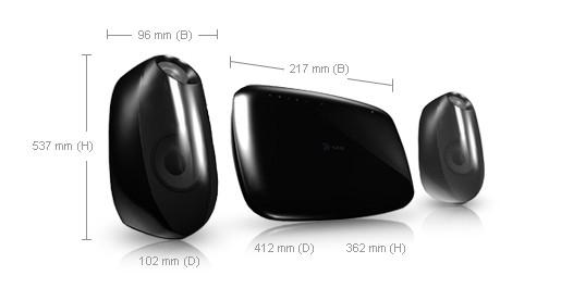 Samsung HT-X710T Home Theatre System 2.1canali 400W sistema home cinema