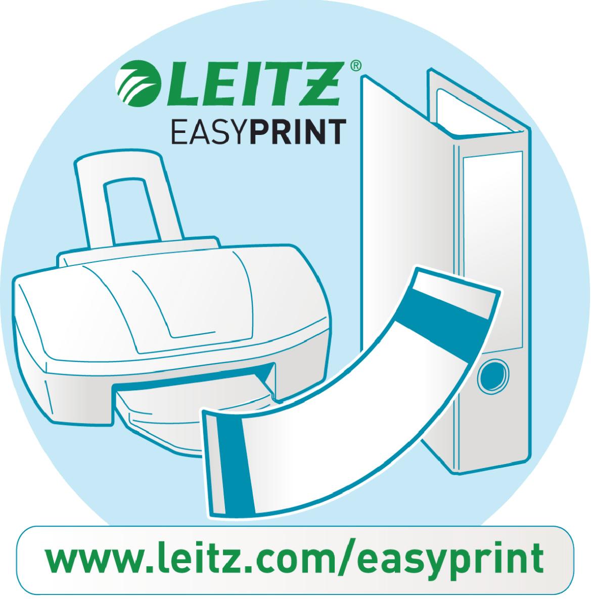 Leitz 16800085 100pezzo(i) Grigio etichetta non adesiva