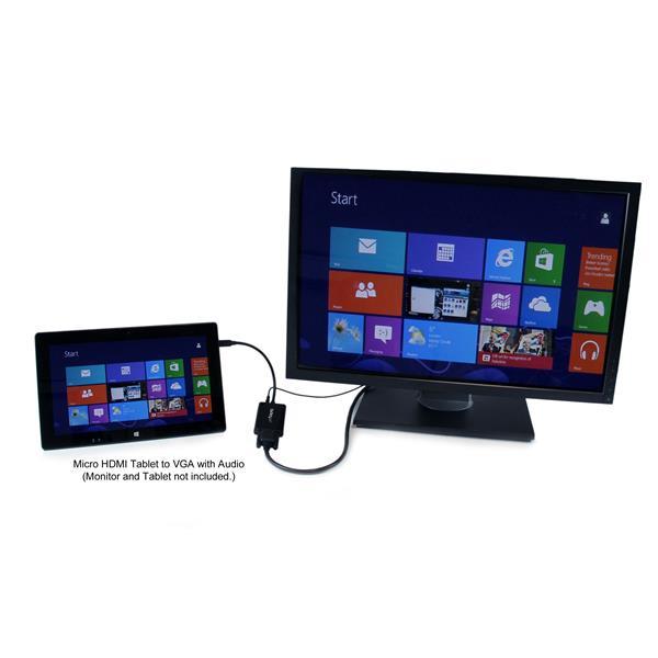StarTech.com Adattatore convertitore Micro HDMI a VGA con audio per smartphone/ultrabook/tablet - 1920x1200
