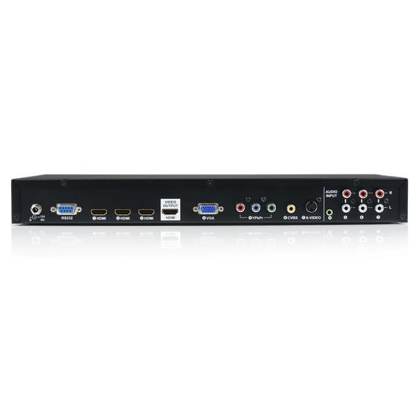 StarTech.com Commutatore switch scaler ingresso video multiplo con audio a HDMI - HDMI / VGA / Component