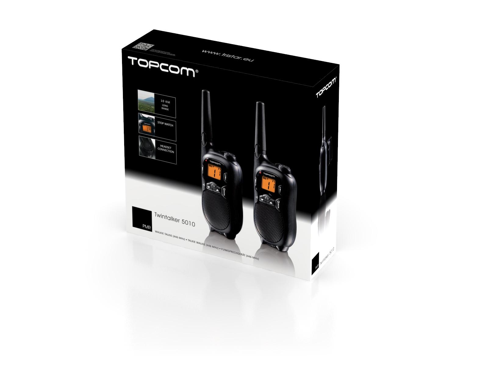 Topcom Twintalker 5010 8canali 446MHz Nero ricetrasmittente