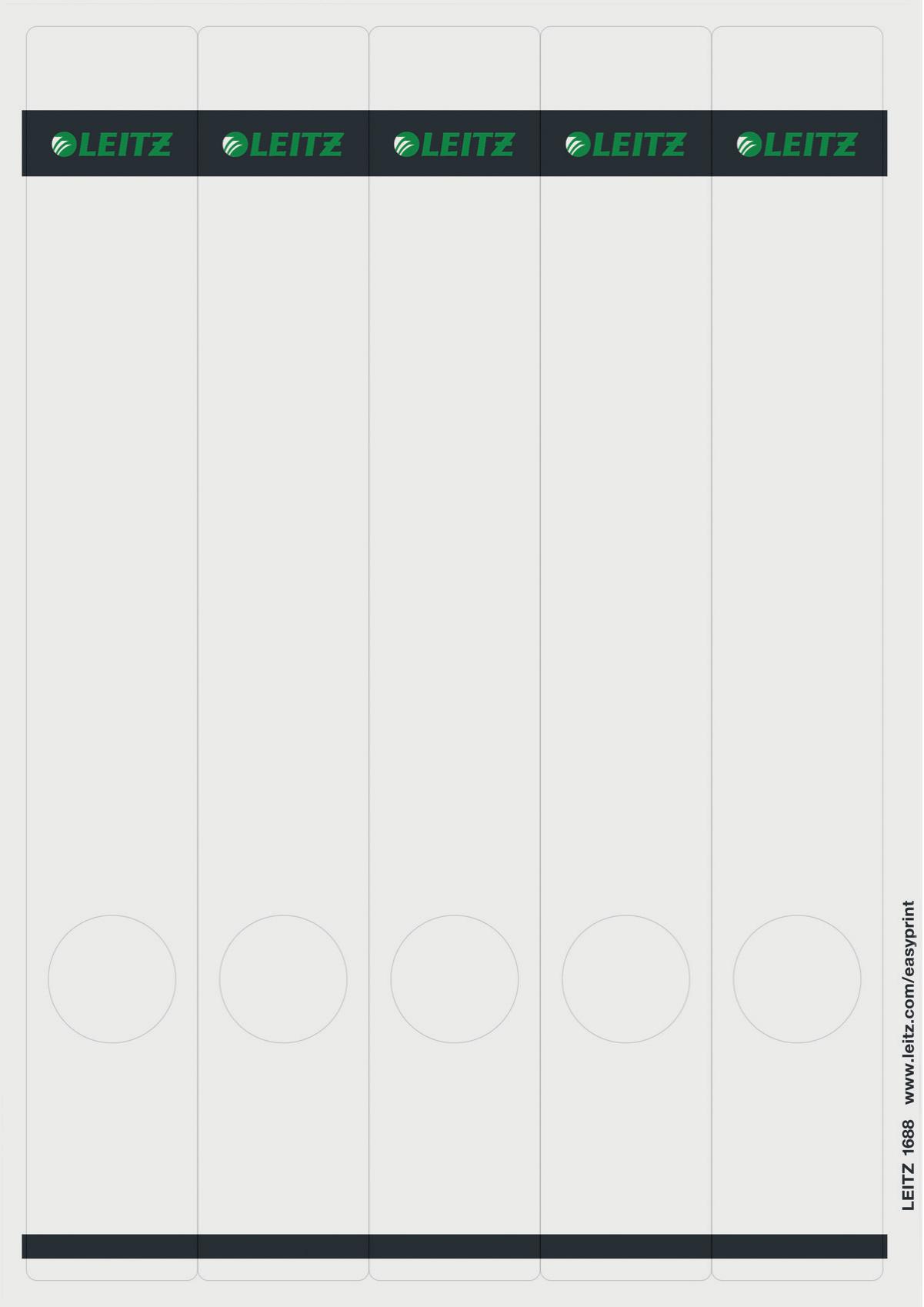 Leitz 16880085 Rettangolo Grigio 125pezzo(i) etichetta autoadesiva