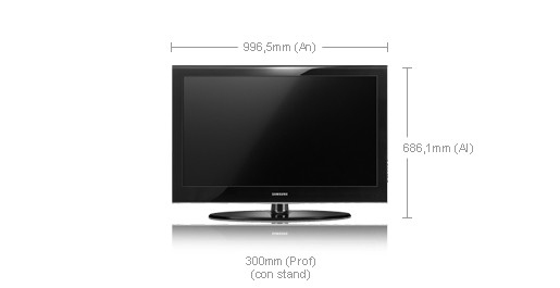 "Samsung LE-40A558P3FXXC 40"" Full HD Nero TV LCD"