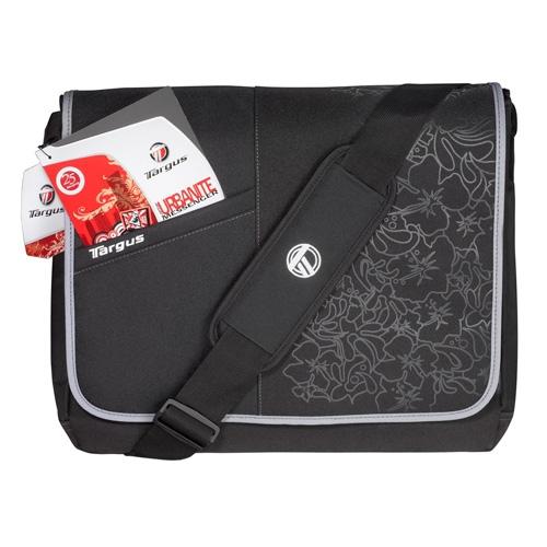 "Targus Laptop Messenger - Black Floral 15.4"" Borsa da corriere Nero"