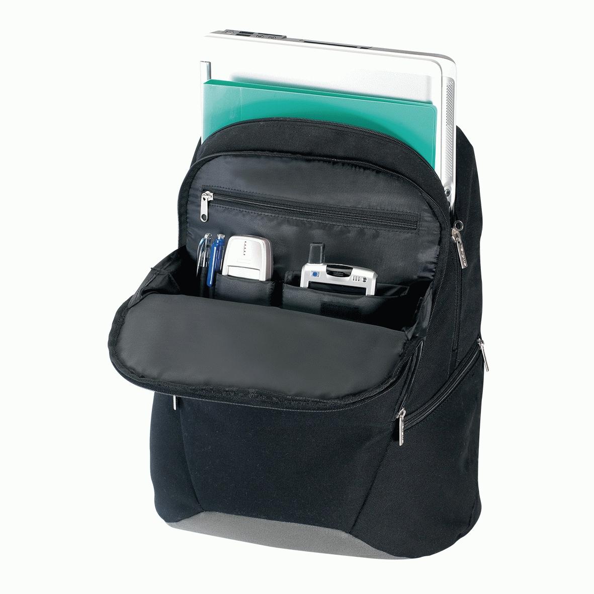 """Targus Canvas Laptop Backpack 15.4"""" Zaino Nero"""