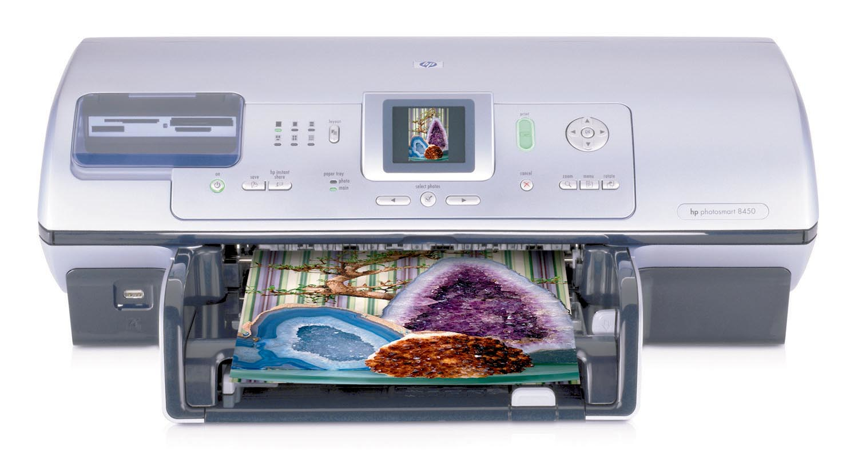 HP Photosmart 8450gp Ad inchiostro 4800 x 1200DPI Grigio, Argento stampante per foto