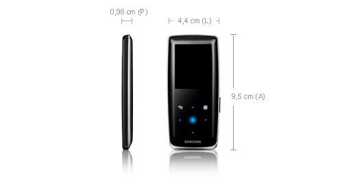 Samsung S3 Audio Player 2GB Black 2GB Nero