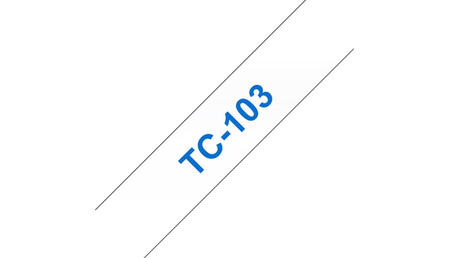 Brother TC-103 Blu su trasparente TC nastro per etichettatrice