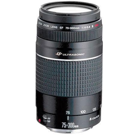 Canon EF 75-300mm f/4.0-5.6 III Nero