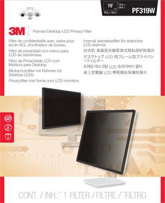 3M PF319W Filtro Privacy con cornice per monitor LCD/CRT widescreen computer da tavolo