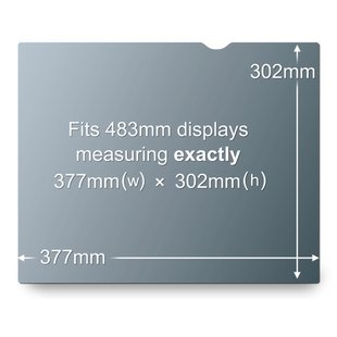 "3M PF19.0 19"" PC Frameless display privacy filter"