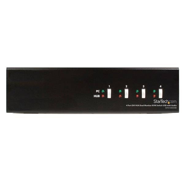 StarTech.com SV431DDUSB Nero switch per keyboard-video-mouse (kvm)