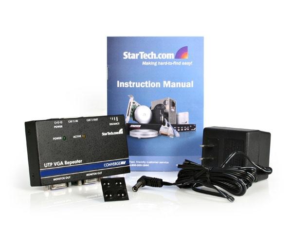 StarTech.com Converge A/V VGA Cat5 UTP Repeater/Extender scheda di interfaccia e adattatore