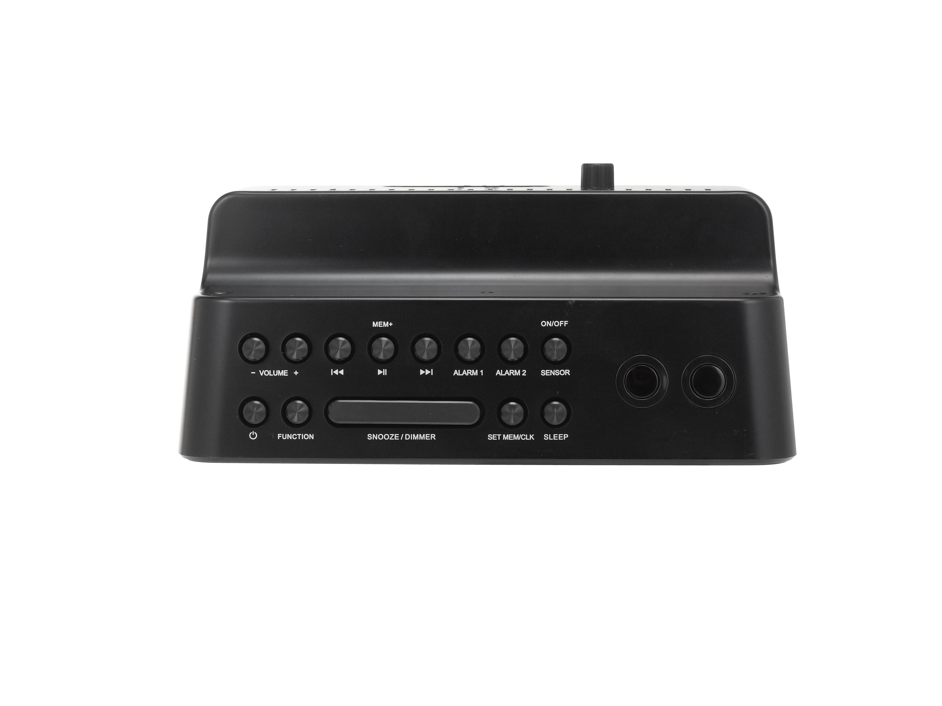 AudioSonic CL-1461 Orologio Digitale Nero radio