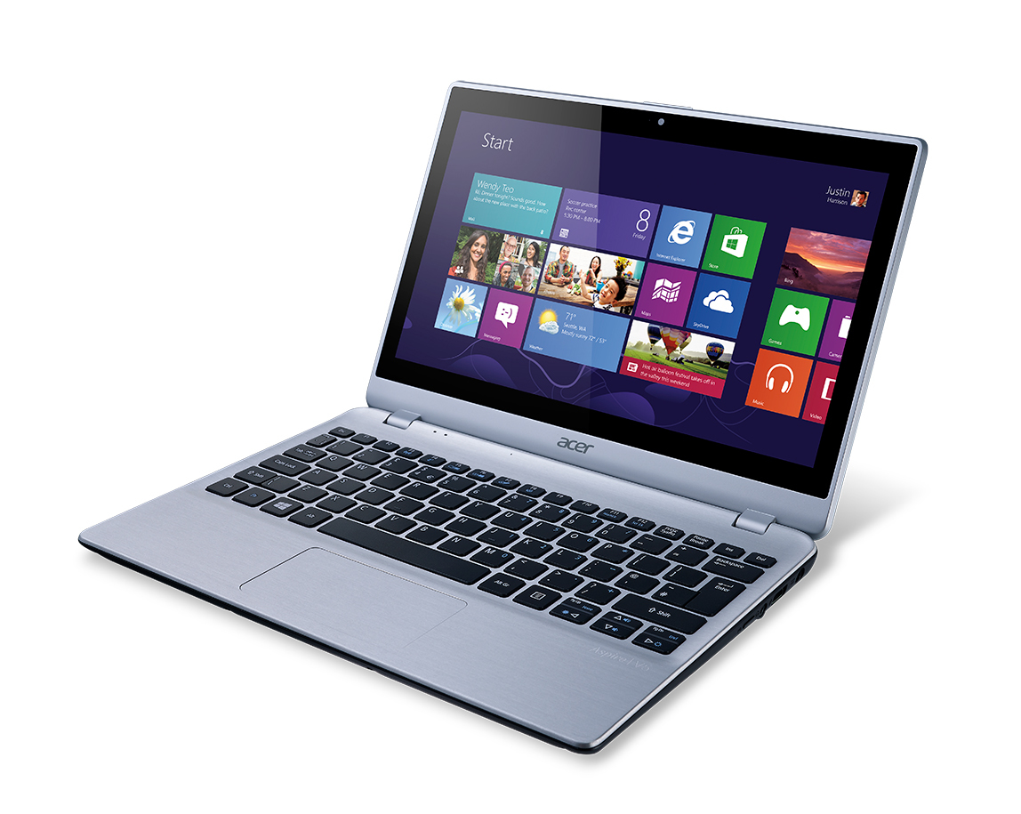 "Acer Aspire 122P-61454G50ns 1GHz A6-1450 11.6"" 1366 x 768Pixel Touch screen Argento Computer portatile"