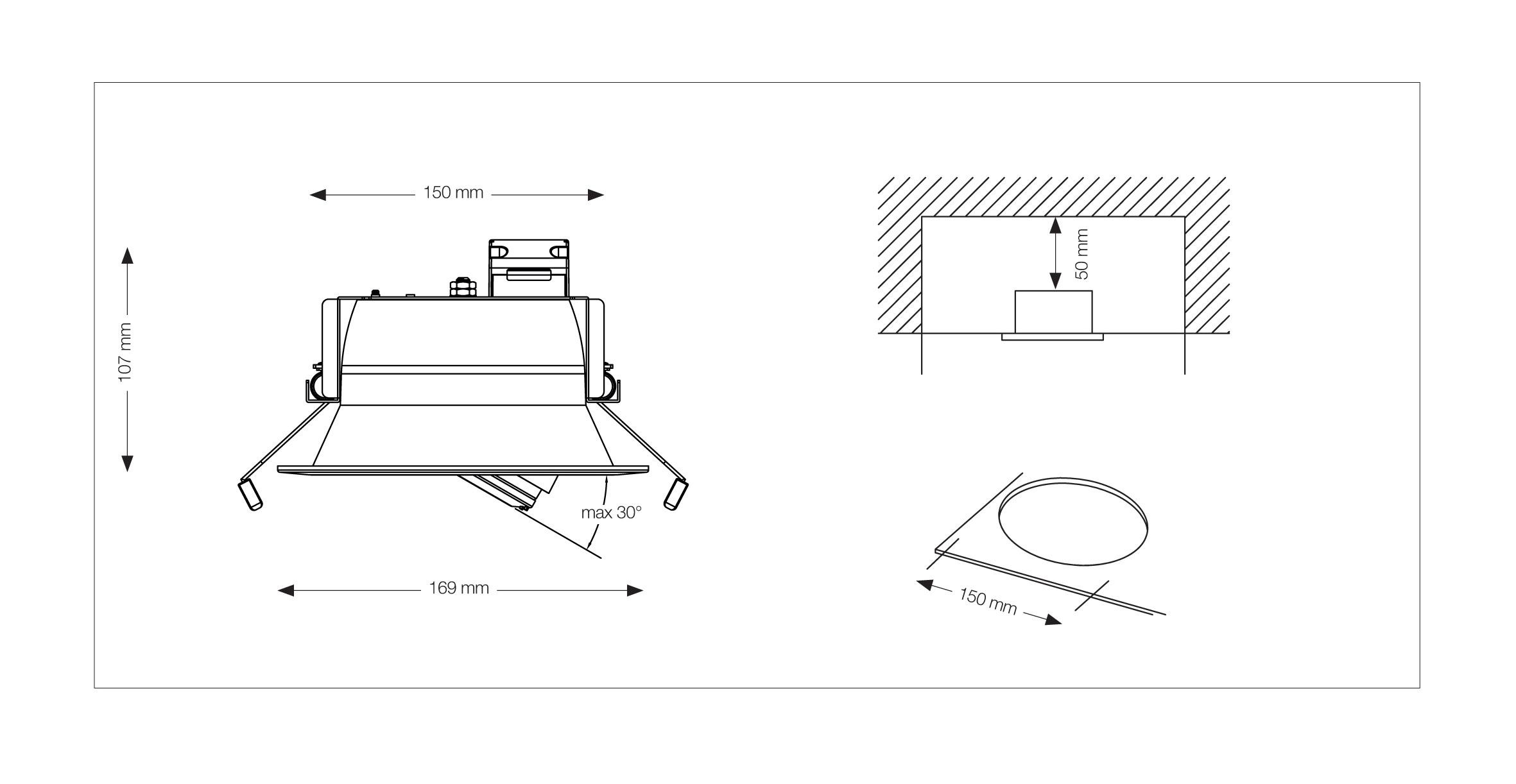 Toshiba LEDEUD00110S27 Interno Recessed lighting spot GX53 6.9W Bianco faretto di illuminazione
