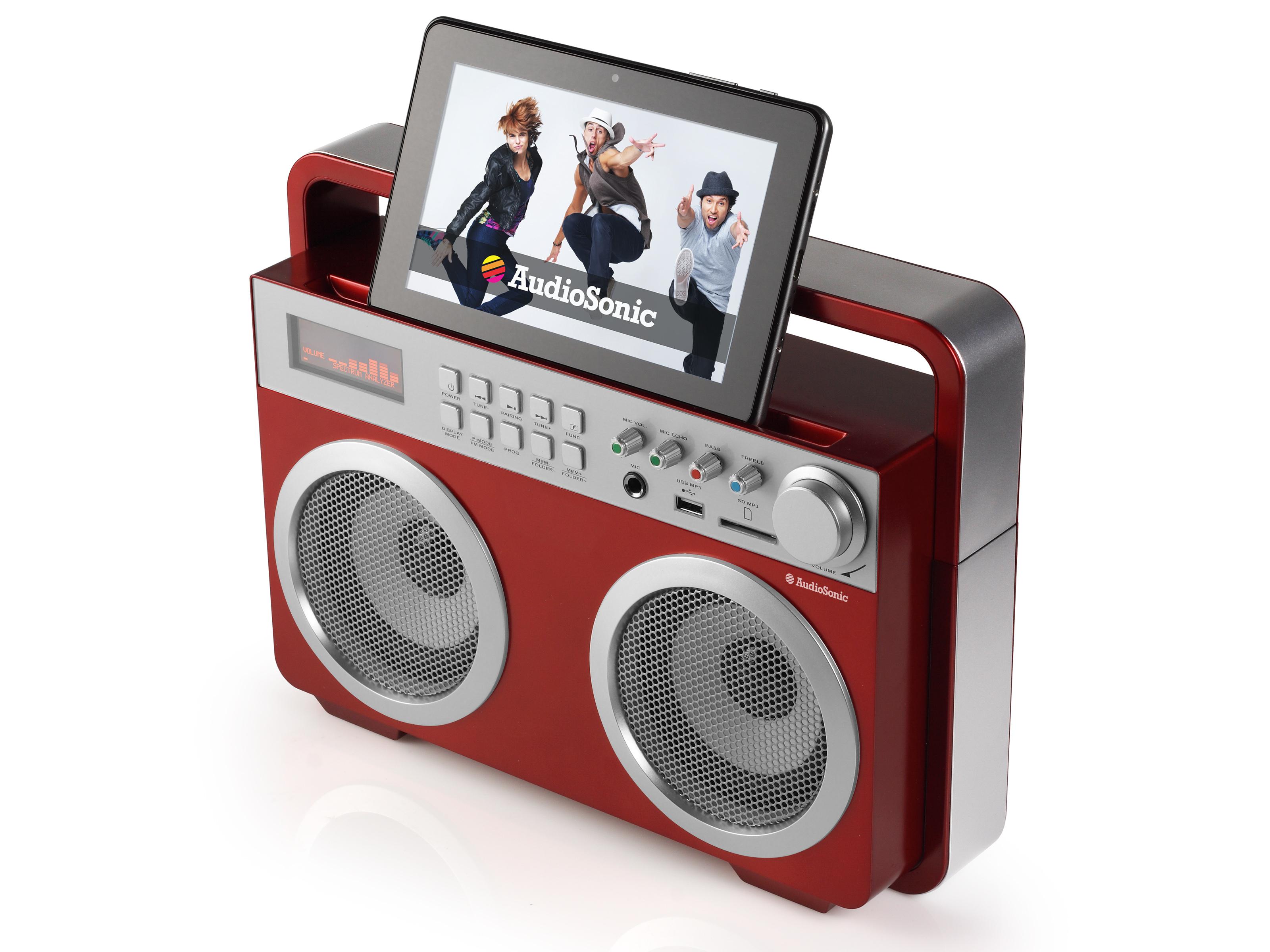 AudioSonic RD-1558 Portatile Rosso radio