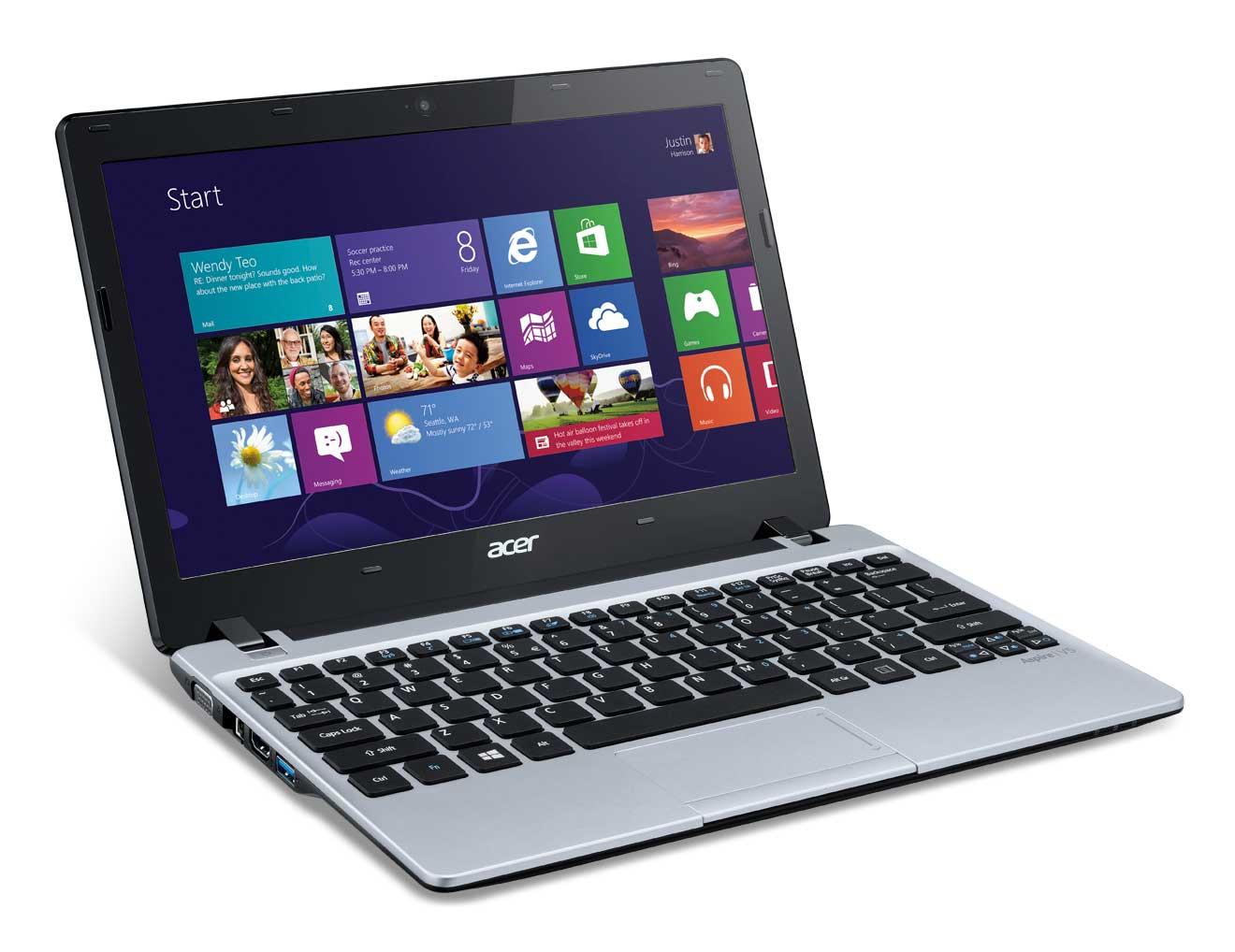 """Acer Aspire 123-12104G50nss 1GHz E1-1200 11.6"""" 1366 x 768Pixel Argento Computer portatile"""