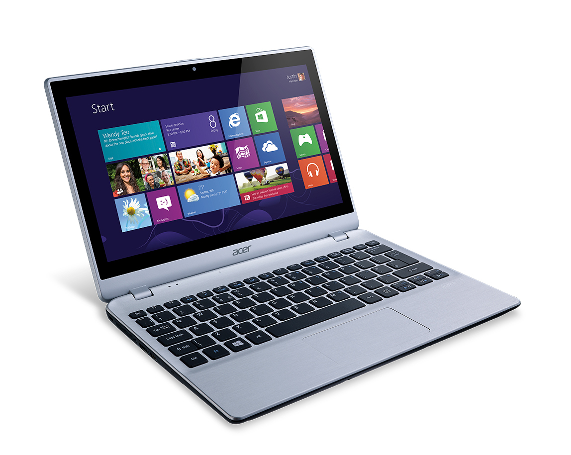 """Acer Aspire 122P-61456G50nss 1GHz A6-1450 11.6"""" 1366 x 768Pixel Touch screen Nero Computer portatile"""