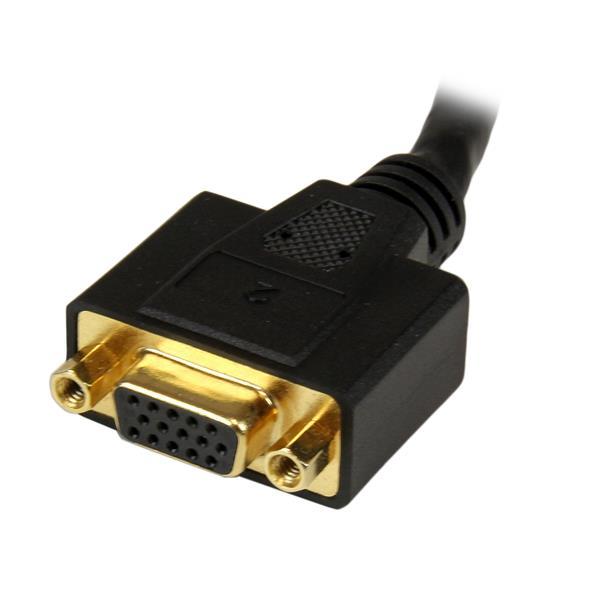 StarTech.com Cavo sdoppiatore DVI-I a DVI-D e HD15 VGA per thin client Wyse - Cavetto Splitter DVI - 20 cm